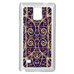 Tribal Ornate Pattern Samsung Galaxy Note 4 Case (white) by dflcprints