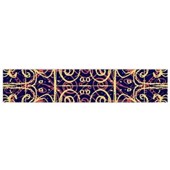 Tribal Ornate Pattern Flano Scarf (small)  by dflcprints