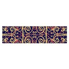 Tribal Ornate Pattern Satin Scarf (Oblong)