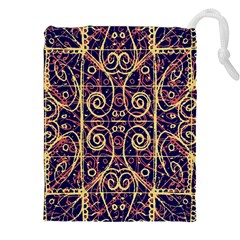 Tribal Ornate Pattern Drawstring Pouches (xxl) by dflcprints