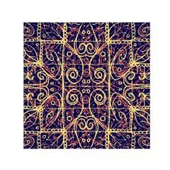 Tribal Ornate Pattern Small Satin Scarf (Square)
