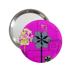 Flowers And Squares              2 25  Handbag Mirror by LalyLauraFLM