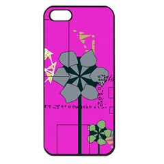 Flowers And Squares        Apple Iphone 5 Seamless Case (black)