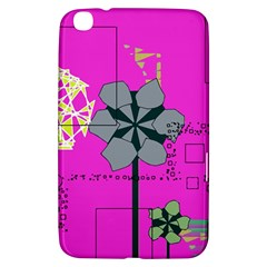 Flowers And Squares        Samsung Galaxy Tab 3 (7 ) P3200 Hardshell Case