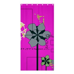 Flowers And Squares             Cd Wall Clock by LalyLauraFLM