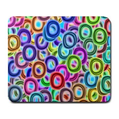 Colorful Ovals              Large Mousepad by LalyLauraFLM