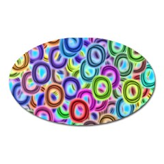 Colorful Ovals              Magnet (oval) by LalyLauraFLM