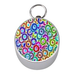 Colorful Ovals              Silver Compass (mini) by LalyLauraFLM