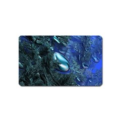 Shiny Blue Pebbles Magnet (name Card) by linceazul
