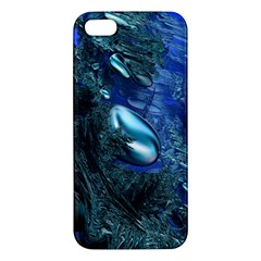 Shiny Blue Pebbles Iphone 5s/ Se Premium Hardshell Case by linceazul