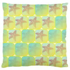 Starfish Large Flano Cushion Case (one Side) by linceazul