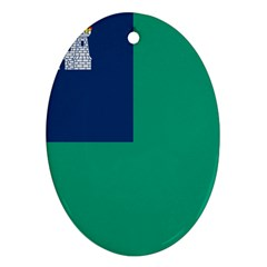 City Of Dublin Flag Oval Ornament (two Sides) by abbeyz71