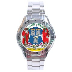 City Of Dublin Coat Of Arms  Stainless Steel Analogue Watch by abbeyz71