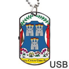 City Of Dublin Coat Of Arms  Dog Tag Usb Flash (one Side) by abbeyz71