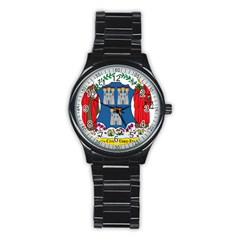 City Of Dublin Coat Of Arms Stainless Steel Round Watch by abbeyz71