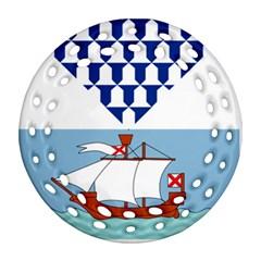 Flag Of Belfast Ornament (round Filigree) by abbeyz71