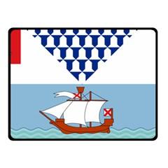 Flag Of Belfast Double Sided Fleece Blanket (small)  by abbeyz71