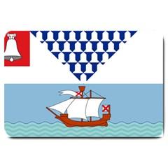 Flag Of Belfast Large Doormat  by abbeyz71