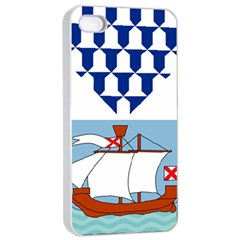 Flag Of Belfast Apple Iphone 4/4s Seamless Case (white) by abbeyz71