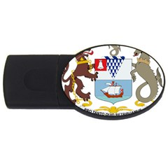 Coat Of Arms Of Belfast  Usb Flash Drive Oval (4 Gb) by abbeyz71