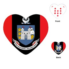 Flag Of Drogheda  Playing Cards (heart)  by abbeyz71
