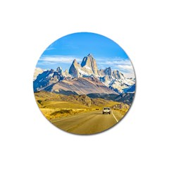 Snowy Andes Mountains, El Chalten, Argentina Magnet 3  (round) by dflcprints