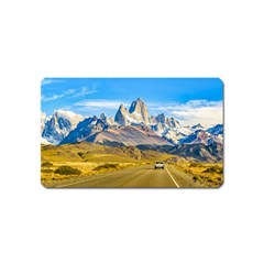 Snowy Andes Mountains, El Chalten, Argentina Magnet (name Card) by dflcprints