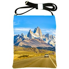 Snowy Andes Mountains, El Chalten, Argentina Shoulder Sling Bags by dflcprints