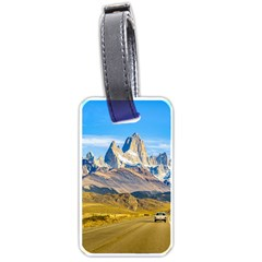 Snowy Andes Mountains, El Chalten, Argentina Luggage Tags (one Side)  by dflcprints
