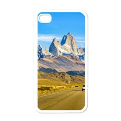 Snowy Andes Mountains, El Chalten, Argentina Apple Iphone 4 Case (white) by dflcprints