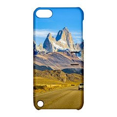 Snowy Andes Mountains, El Chalten, Argentina Apple Ipod Touch 5 Hardshell Case With Stand by dflcprints