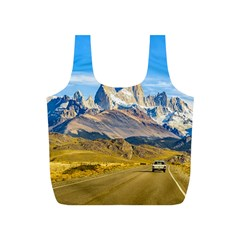 Snowy Andes Mountains, El Chalten, Argentina Full Print Recycle Bags (s)  by dflcprints