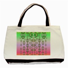 Summer Bloom In Festive Mood Basic Tote Bag by pepitasart
