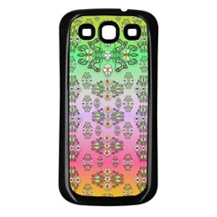 Summer Bloom In Festive Mood Samsung Galaxy S3 Back Case (black) by pepitasart