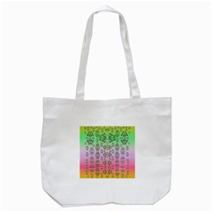 Summer Bloom In Festive Mood Tote Bag (white) by pepitasart