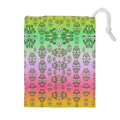 Summer Bloom In Festive Mood Drawstring Pouches (extra Large) by pepitasart