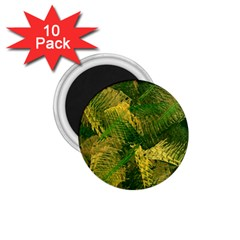 Green And Gold Abstract 1 75  Magnets (10 Pack)  by linceazul