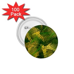 Green And Gold Abstract 1 75  Buttons (100 Pack)  by linceazul