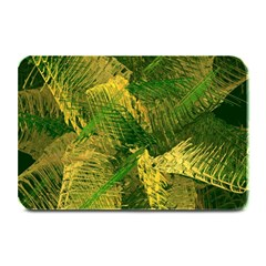 Green And Gold Abstract Plate Mats by linceazul