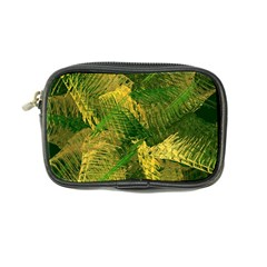Green And Gold Abstract Coin Purse by linceazul