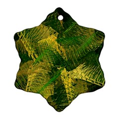 Green And Gold Abstract Ornament (snowflake) by linceazul