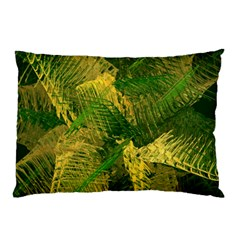 Green And Gold Abstract Pillow Case (two Sides) by linceazul