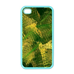 Green And Gold Abstract Apple Iphone 4 Case (color) by linceazul