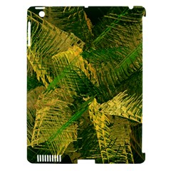 Green And Gold Abstract Apple Ipad 3/4 Hardshell Case (compatible With Smart Cover) by linceazul