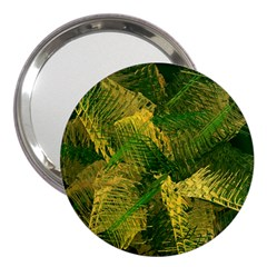 Green And Gold Abstract 3  Handbag Mirrors by linceazul