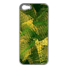 Green And Gold Abstract Apple Iphone 5 Case (silver) by linceazul