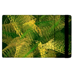 Green And Gold Abstract Apple Ipad 2 Flip Case by linceazul