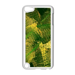 Green And Gold Abstract Apple Ipod Touch 5 Case (white) by linceazul