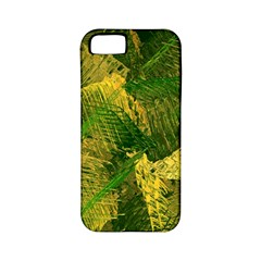 Green And Gold Abstract Apple Iphone 5 Classic Hardshell Case (pc+silicone) by linceazul