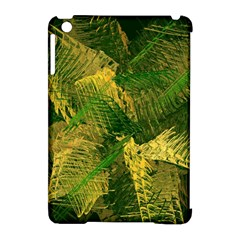 Green And Gold Abstract Apple Ipad Mini Hardshell Case (compatible With Smart Cover) by linceazul